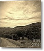 Curvy Road To Nowhere Metal Print by Garren Zanker