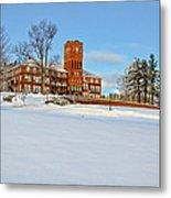 Cushing Academy In Winter Metal Print