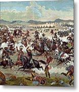 Custer's Last Charge Metal Print