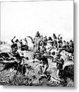 Custer's Last Fight, 1876 Metal Print