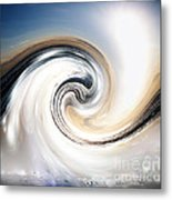 Custom Chrome Wave Metal Print by Jeffery Fagan