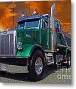 Custom Gravel Truck Catr0278-12 Metal Print