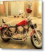Custom Harley   Hdr Metal Print