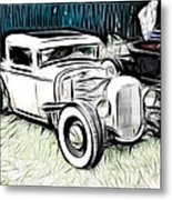 Custom Hot Rod Pickup Metal Print