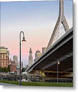 Custom House And Zakim Bridge Metal Print
