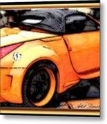 Custom Orange Sports Car Metal Print by Danielle  Parent