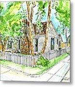House Portrait Sample Metal Print