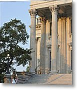 Customs House Steps Metal Print