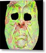 Cut Out Mask Metal Print