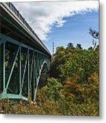 Cut River Bridge 1 C Metal Print