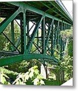 Cut River Bridge Near Epoufette Michigan Metal Print