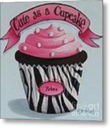 Cute As A Cupcake Metal Print