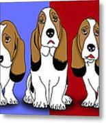 Cute Dogs 2 Metal Print
