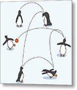 Cute Penguin Art Metal Print