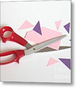 Cutting Corners Metal Print