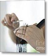 Cutting Hair Metal Print