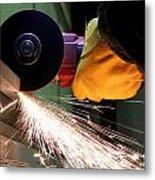Cutting Steel Metal Print