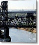 Cuyahoga River Cleveland Flats Metal Print