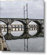 Cv - Susquehanna River Bridge Harrisburg  Pennsylvania Metal Print