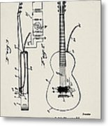 Cw Russell Acoustic Electric Guitar Patent 1939 Metal Print