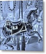 Cyan Horse Metal Print