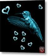 Cyan Hummingbird - 2055 F M Metal Print