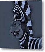 Bluegray Zebra Metal Print