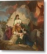 Cybele Opposing Vesuvius To Protect The Cities Of Stabia Metal Print