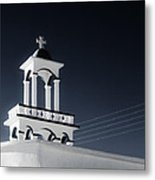 Cyclades Greece - Andros Island Church Metal Print