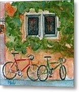Cycle Cafe Metal Print