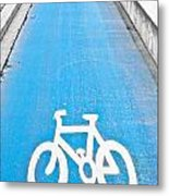 Cycle Path Metal Print