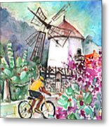 Cycling In The Mountains Of Gran Canaria Metal Print