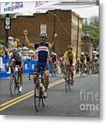 Cycling Stage Win Metal Print