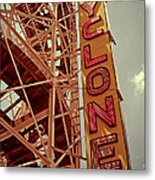 Cyclone Roller Coaster - Coney Island Metal Print
