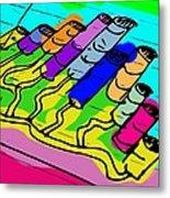 Cylinder Divergence Metal Print