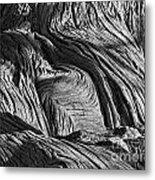 Cypress Tree Abstract Metal Print