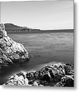 Cypress Tree At The Coast, The Lone Metal Print