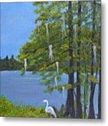 Cypress Trees At Lake Marion Metal Print