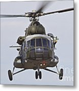 Czech Air Force Mi-171 Hip Helicopter Metal Print