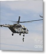 Czech Air Force Mi-171 Hips Training Metal Print