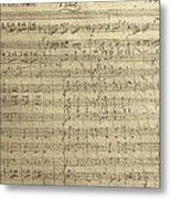 Czech Republic Prague Symphony No. 38 In D Major Called Prague Symphony Metal Print