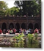 The Arches And The Fountain Metal Print