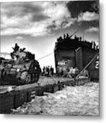 D-day Landings Harbour Metal Print