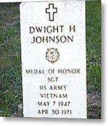 D. H. Johnson - Medal Of Honor Metal Print