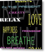 D I Y Anxiety Therapy Metal Print