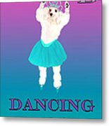 D Is For Dancing Dog Metal Print