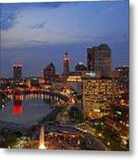 D101l Columbus Ohio Night Skyline Photo Metal Print