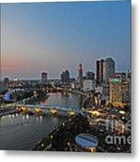 D2l448 Columbus Ohio Night Skyline Photo Metal Print