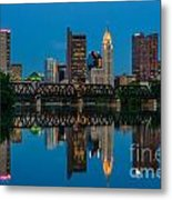 D2l64 Columbus Ohio Skyline Metal Print