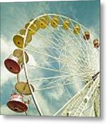 Da Big Wheel Metal Print